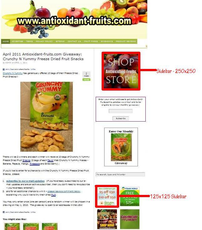 Campaign Grid for Antioxidant-fruits.com