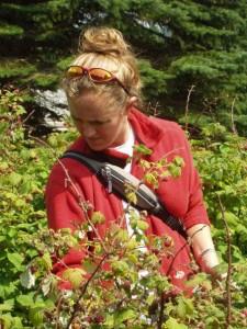 Picking raspberries outside of Middlebury, VT