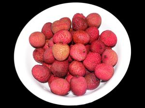 lychees in a bowl