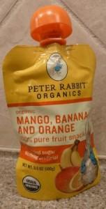 Peter Rabbit Organics, Organic Mango, Banana and Orange 100 Pure Fruit Snack