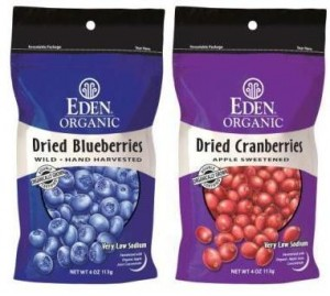 Eden Foods Dried Cranberries and Blueberries