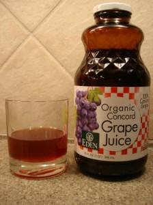 Eden Organic Concord Grape Juice in glass