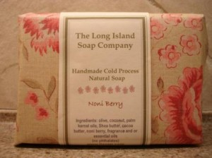 Noni Berry Soap in packaging