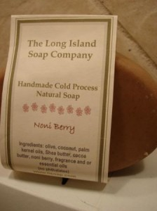 Noni Berry Soap out of package