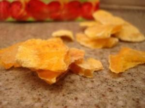 Crunchy N Yummy Organic Freeze Dried Fruit Mango freeze dried up close