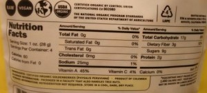 Navitas Naturals Organic Goldenberries Andean Superfruit  nutrition facts