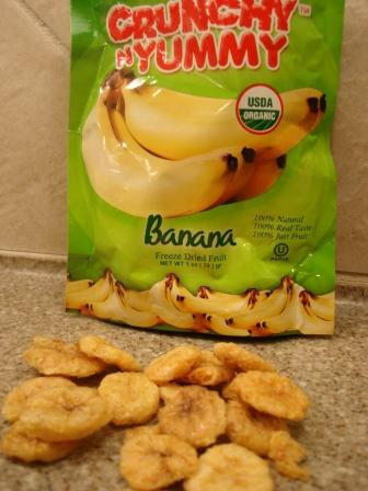 Crunchy N Yummy Organic Freeze Dried Fruit Banana out of the package