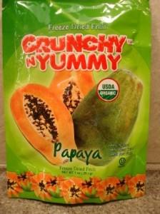 Crunchy 'N' Yummy Organic Freeze Dried Papaya Fruit Snacks