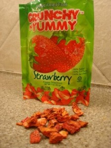 Crunchy N Yummy Freeze Dried Fruit Strawberry out of package