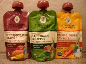 Peter Rabbit Organics Vegetable and Fruit Puree Pouches
