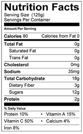 nutritional facts for Peter Rabbit Organics Pea Spinach and Apple Puree