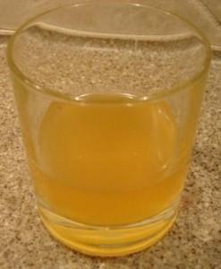 Eden Organic Apple Juice in glass