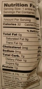 Brothers-ALL-Natural White and Yellow Peach Crisps nutrition facts