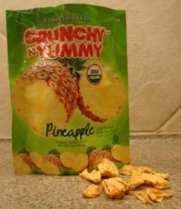 Crunchy N Yummy Organic Freeze Dried Fruit Pineapple with freeze dried fruit
