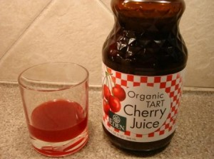 Eden Organic Tart Cherry Juice in glass