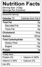 Peter Rabbit Organics, Carrot, Squash and Apple Puree Nutritional Info