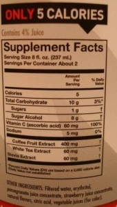 Bai Sumatra Dragonfruit nutrition facts