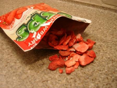 Brothers-ALL-Natural Strawberry Crisps out of package