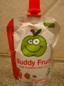 Buddy Fruits Pure Blended Fruit To Go Apple and Strawberry