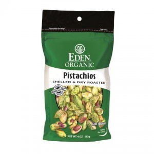 Eden Foods Pistachios Shelled and Dry Roasted Organic -- 4 oz