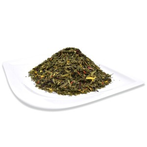 Organic Lychee Green Tea Loose Leaf Bag Positively Tea