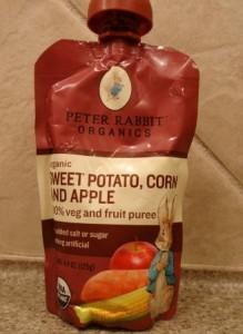 Peter Rabbit Organics, Sweet Potato, Corn and Apple Puree