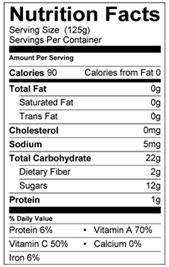 Peter Rabbit Organics Sweet Potato, Corn and Apple Nutrition Facts