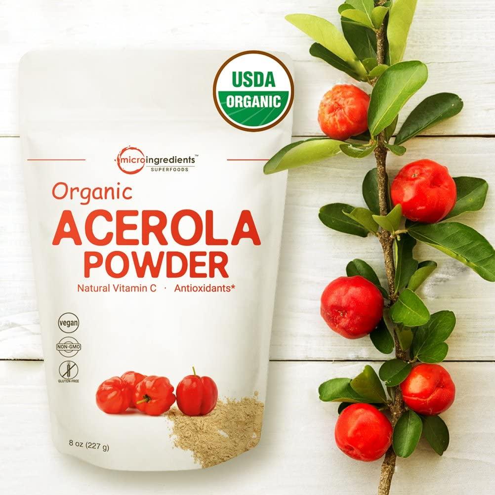 Pure USDA Organic Acerola Cherry Powder