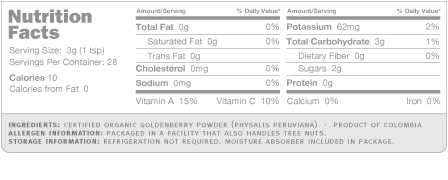 golden berry nutrition