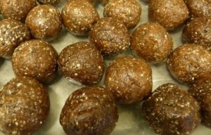 Protein Bites with Hemp Seed Chia Seed Sesame Seed Almonds