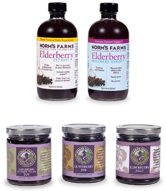 Elderberry Syrup - Elderberry Extract - Elderberry Jam from Norm's Farms  - Antioxidant-fruits Giveaway