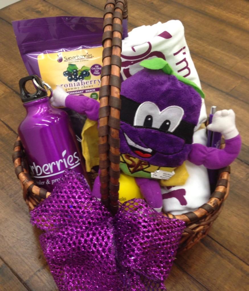 Superberries July Giveaway Basket on Antioxidant-fruits