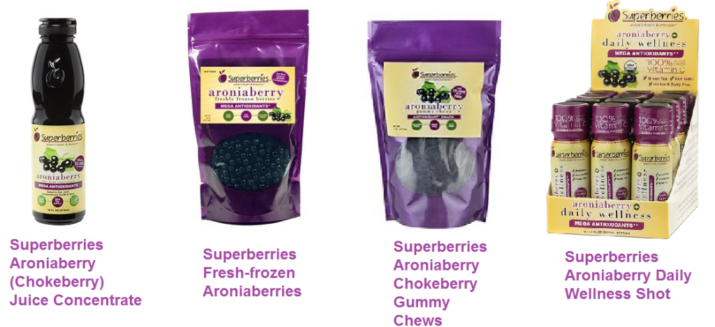Superberries Aroniaberry Chokeberry Products