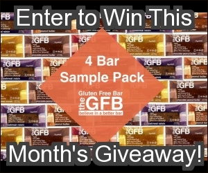 December 2014 Antioxidant-fruits.com Giveaway: A 4 Bar Sample Pack of The Gluten Free Bar