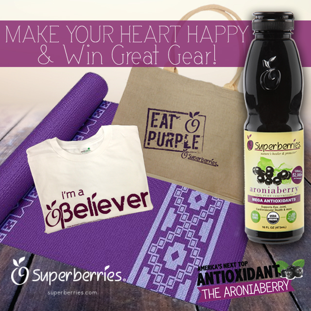 Superberries Heart Month Giveaway February 2015 on Antioxidant-fruits