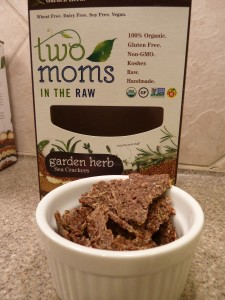 Two Moms in The Raw Gluten Free Organic Sea Cracker Garden Herb Product Review Cracker