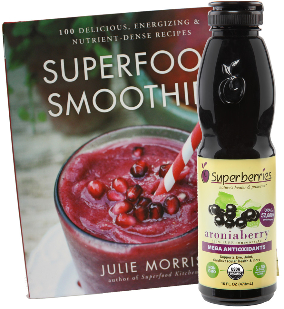April 2015 Antioxidant-fruits Giveaway Superberries Bottle of Concentrate and Superfood Smooothies Book by Julie Morris