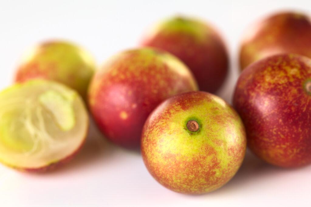 Whole camu-camu fruit