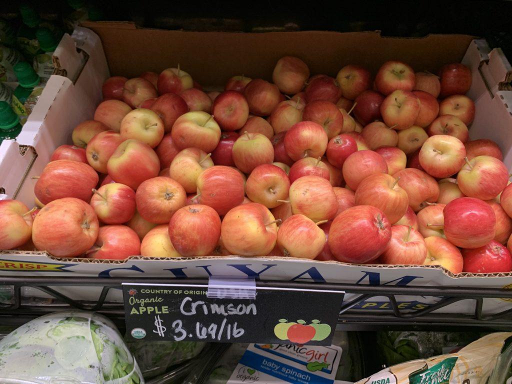 Organic Crimson Apples IMG_9832