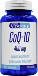CoQ10 400mg Per Serving - 200 Capsules CoQ-10