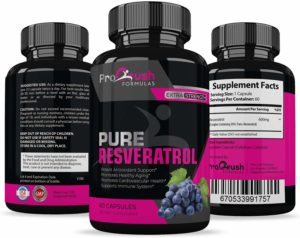 Pure Resveratrol- Natural Red Wine Antioxidant Supplement. Supports Heart Health, Weight Loss, Immune System, Cardiovascular Health with Anti-Aging Benefits for a Healthier Life for Men & Women