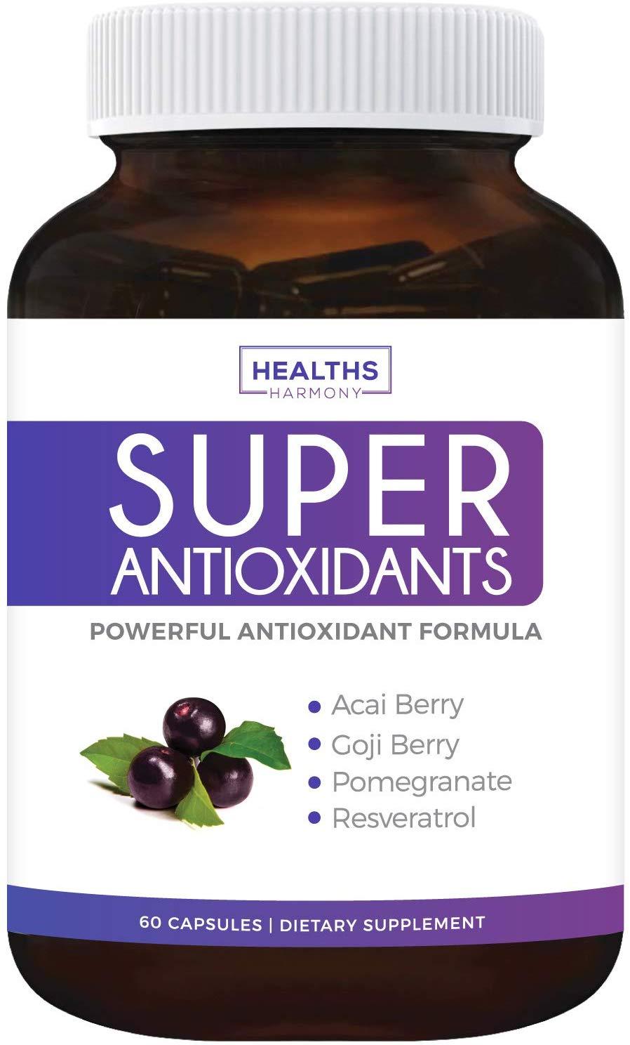 Super Antioxidant Supplement - Powerful Super Food Antioxidants Blend - Acai Berry