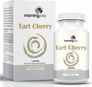Tart Cherry Extract Supplement 180 Count 1,000 mg per Veggie Capsule by Morning Pep
