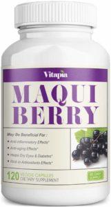 Vitapia Maqui Berry 1000mg - 120 Veggie Capsules - Vegan and Non-GMO - High Quality Superfood Full of Potent Antioxidants - Anti-Aging, Eye Health, Dry Eyes