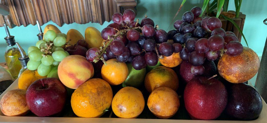 Grapes Passion Fruit Oranges Apples Mangos Mahekal Beach Resort Playa del Carmen Fruit Photos IMG_0949