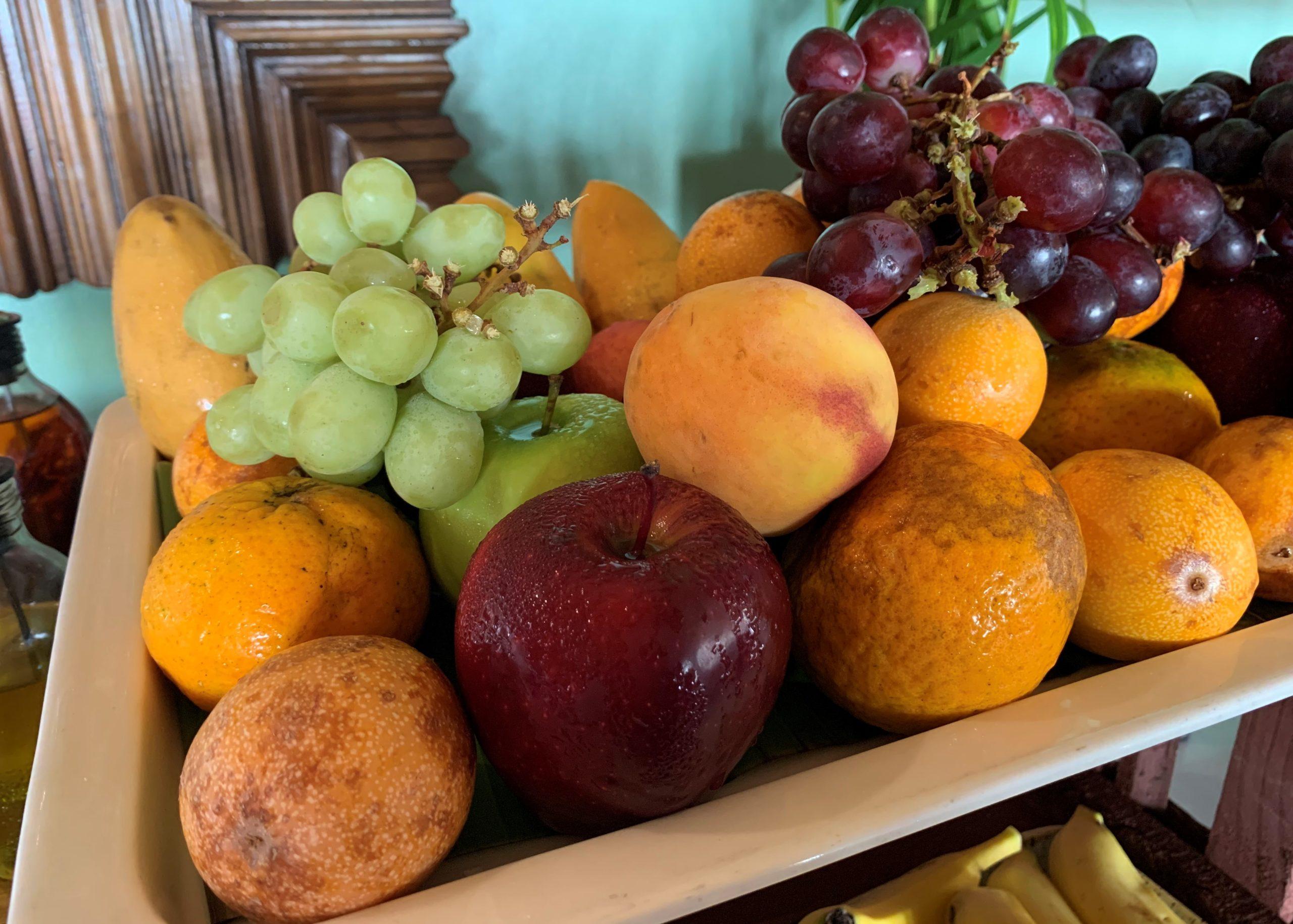 Grapes Passion Fruit Oranges Apples Mangos Mahekal Beach Resort Playa del Carmen Fruit Photos IMG_0951
