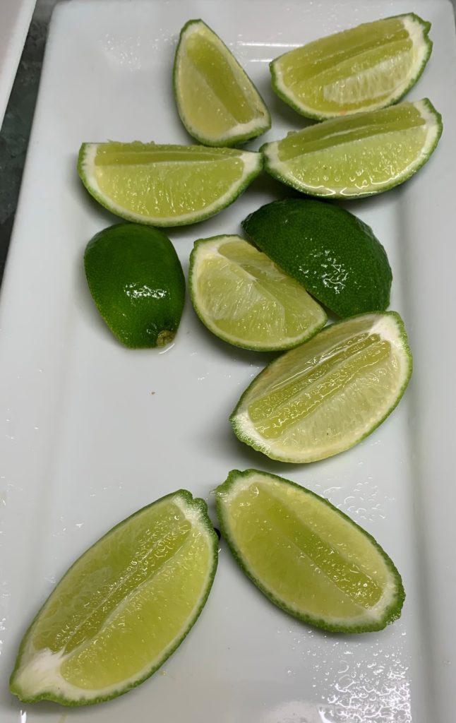 Lime cut up sliced Mahekal Beach Resort Playa del Carmen Fruit Photo IMG_0952