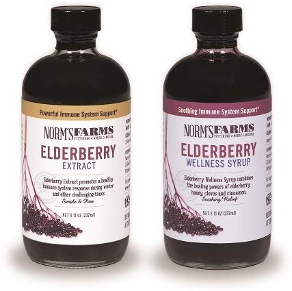 Norms Farms Supplement Two Pack Black Elderberry Wellness Syrup and Black Elderberry Extract