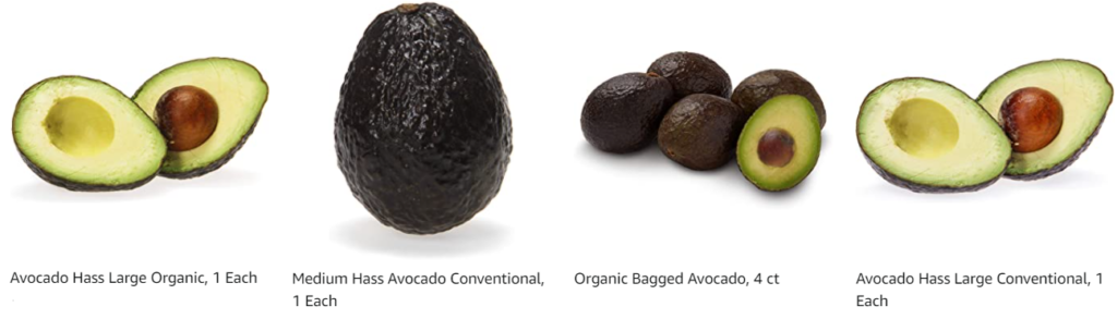 Avocados Organic and Conventional from Whole Foods Market on Amazon
