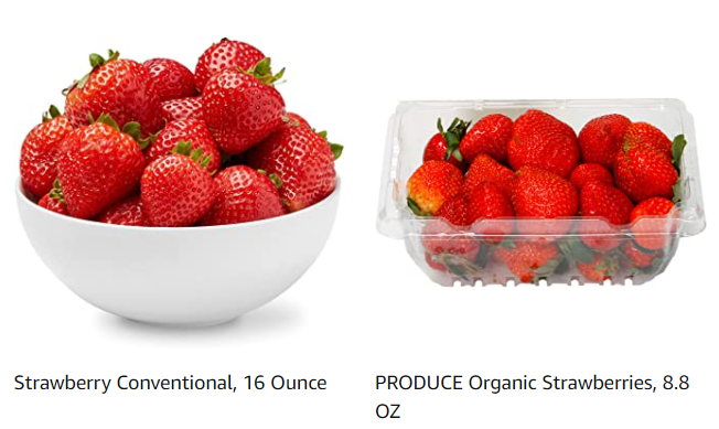 Strawberries Organic and Conventional from Whole Foods Market on Amazon